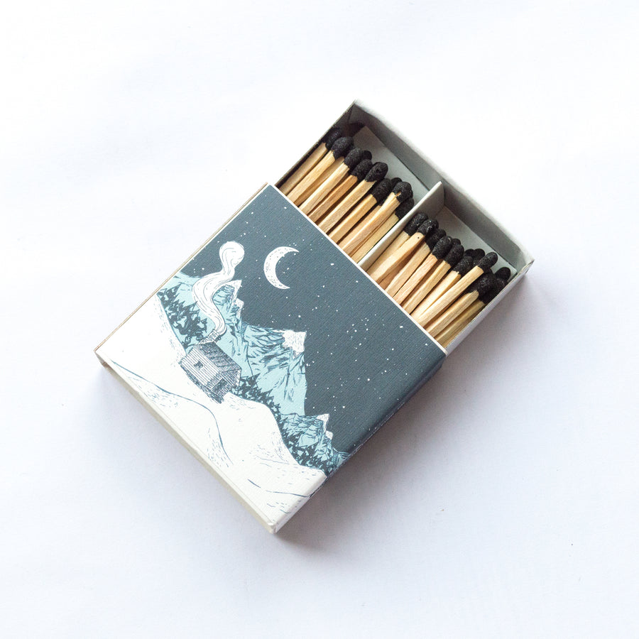 Snow Capped Mountains - Square Matchbox