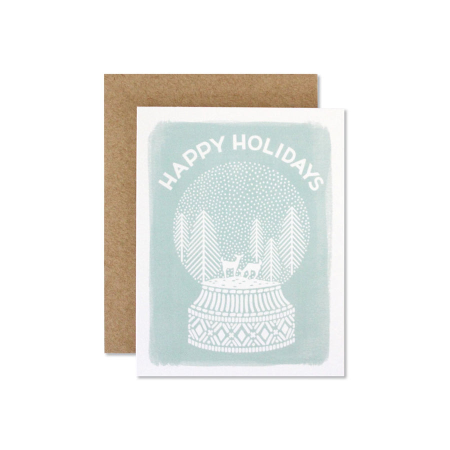 Snow Globe — Seasonal Greeting Card