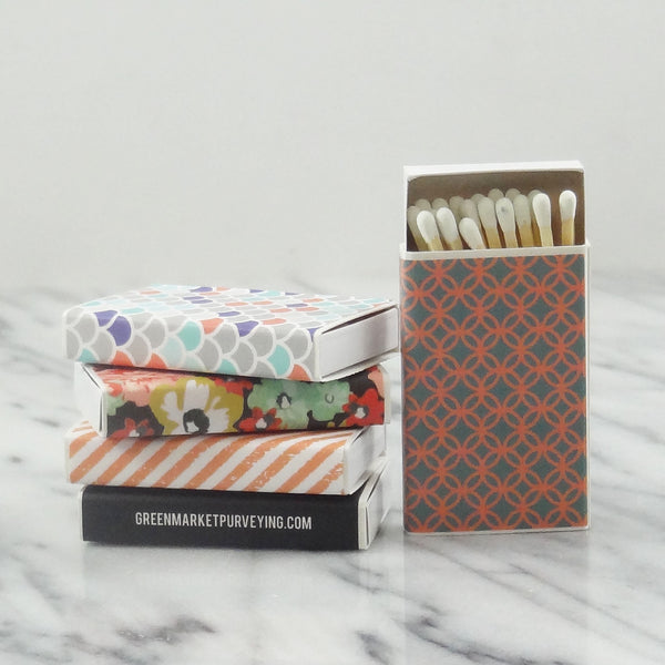 """Perfect Match"" - Set of 5 small matchboxes."