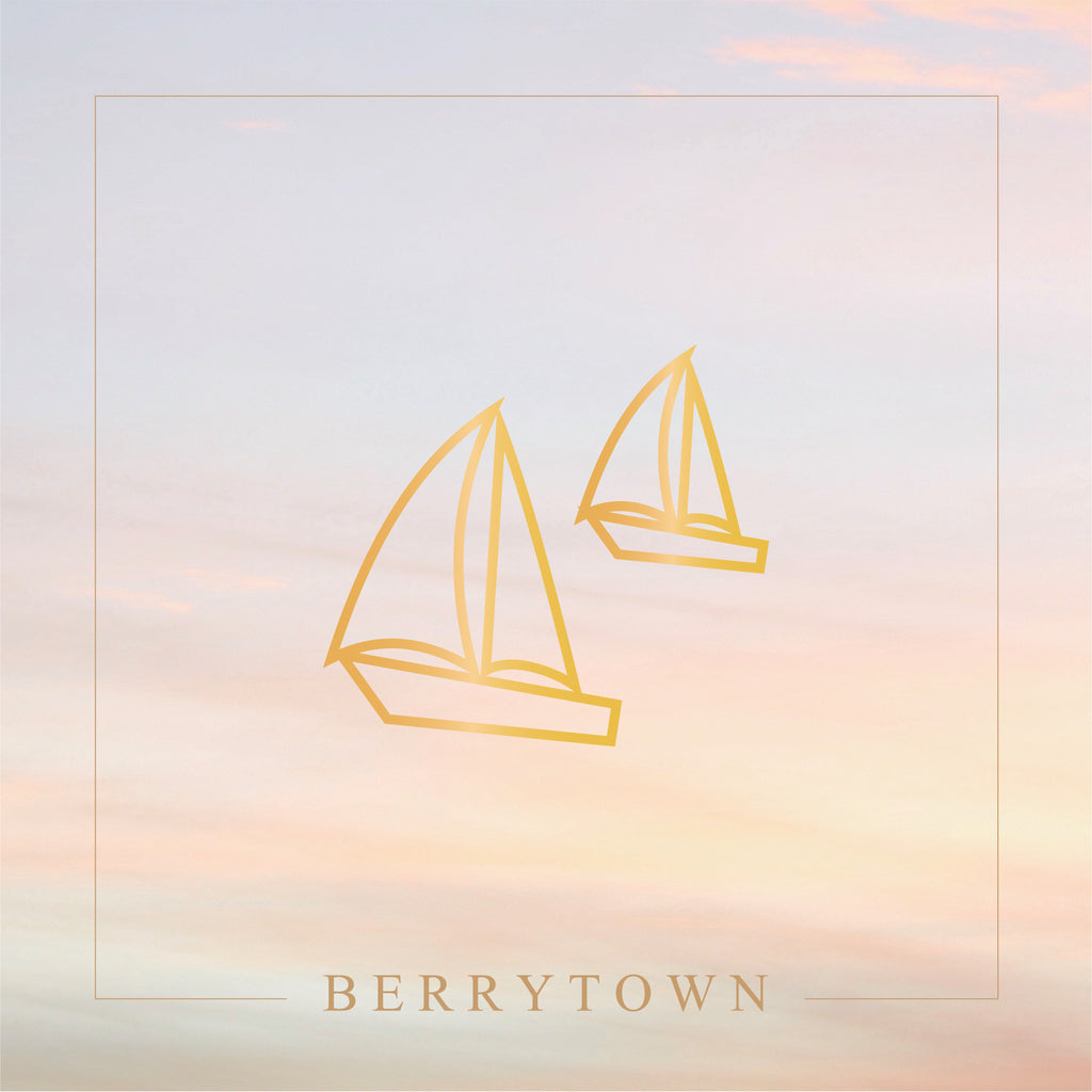 Metallic Gold / Sailing Boat Temporary Tattoo