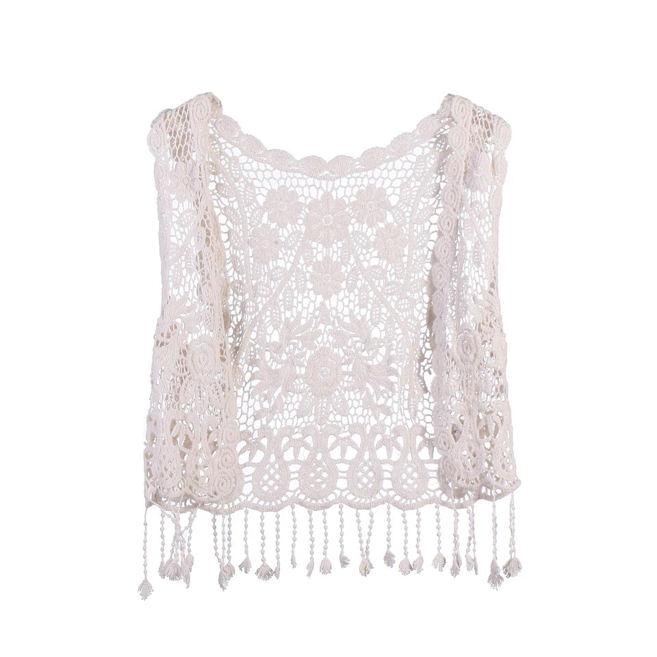 Crochet Lace Vest - Kids Shoe Shack