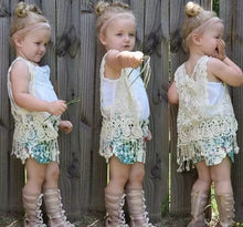 Load image into Gallery viewer, Crochet Lace Vest - Kids Shoe Shack