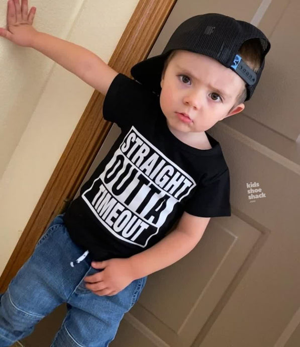 Straight Outta Timeout T-Shirt - Kids Shoe Shack