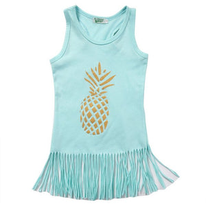 Pineapple Tassel Tops - Kids Shoe Shack