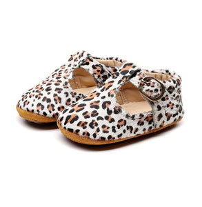 Animal Print Leather Moccasins - Kids Shoe Shack