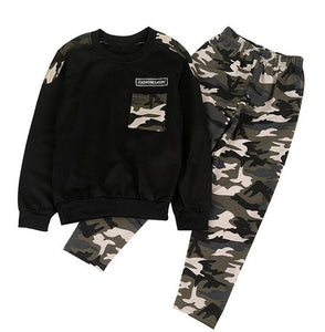 Camo Tracksuits Set - Kids Shoe Shack