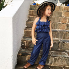 Load image into Gallery viewer, Ruffled Halter Jumpsuit - Kids Shoe Shack