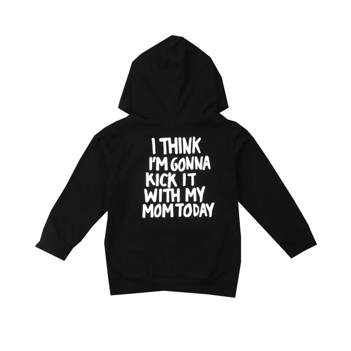 Kick It With My Mom Hoodie - Kids Shoe Shack