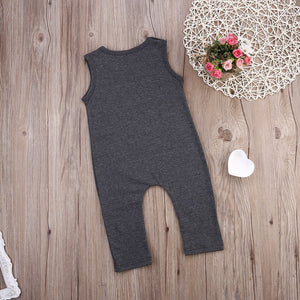 Grey Sleeveless Jumpsuit - Kids Shoe Shack