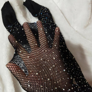 Rhinestone Studded Fishnet Stockings - Kids Shoe Shack
