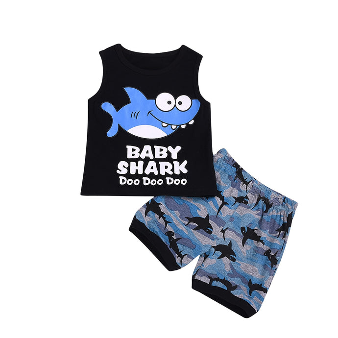 Baby Shark Short Set - Kids Shoe Shack