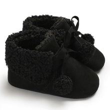 Load image into Gallery viewer, Suede Pompom Boots - Kids Shoe Shack