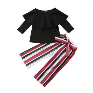 Striped Pants Set - Kids Shoe Shack