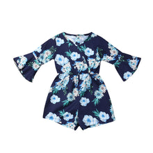 Load image into Gallery viewer, Flare Sleeve Floral Romper - Kids Shoe Shack
