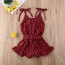 Load image into Gallery viewer, Polka Dot Ruffled Romper - Kids Shoe Shack