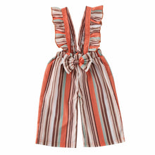 Load image into Gallery viewer, Bow-Knot Striped Jumpsuit - Kids Shoe Shack