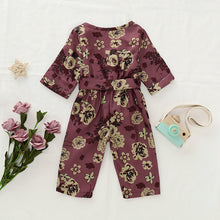 Load image into Gallery viewer, Long Sleeve Floral Jumpsuit - Kids Shoe Shack