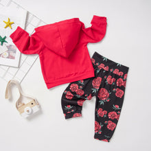 Load image into Gallery viewer, Floral Hooded Sweatsuit Set - Kids Shoe Shack