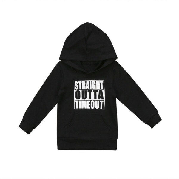 Straight Outta Timeout Hoodie - Kids Shoe Shack