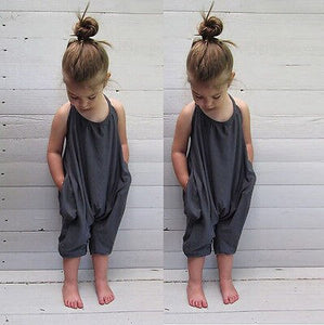 Grey Halter Romper - Kids Shoe Shack