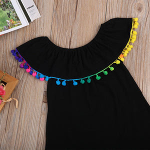 Summer Dresses With Rainbow Tassels - Kids Shoe Shack