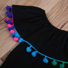 Load image into Gallery viewer, Summer Dresses With Rainbow Tassels - Kids Shoe Shack