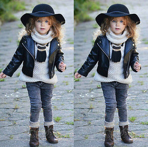 Cool Faux Leather Jacket - Kids Shoe Shack