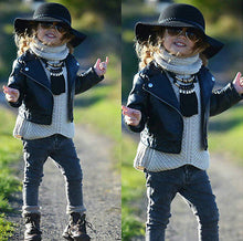 Load image into Gallery viewer, Cool Faux Leather Jacket - Kids Shoe Shack