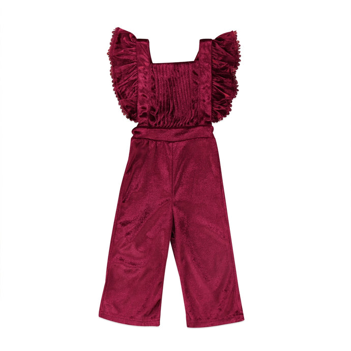 Velvet Backless Jumpsuit - Kids Shoe Shack