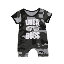 Load image into Gallery viewer, Like a Boss Camouflage Romper - Kids Shoe Shack