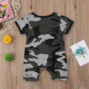 Like a Boss Camouflage Romper - Kids Shoe Shack