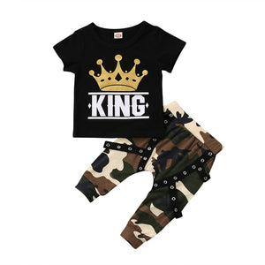 King Camo Pants Set - Kids Shoe Shack