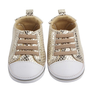 Casey Shiny Hightop Shoes - Kids Shoe Shack