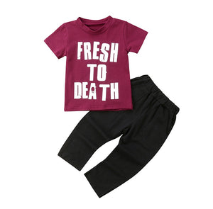 Fresh to Death Pants Set - Kids Shoe Shack