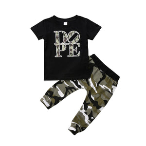 Dope Camo Pants Set - Kids Shoe Shack