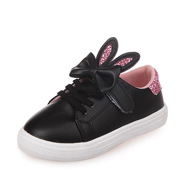 Audrey Glitter Rabbit Ears Sneakers - Kids Shoe Shack