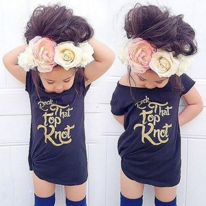Rock That Top Knot T-Shirt - Kids Shoe Shack