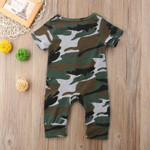 Load image into Gallery viewer, Short Sleeve Camo Button Jumpsuit - Kids Shoe Shack