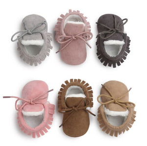 Worm Suede Moccasins - Kids Shoe Shack