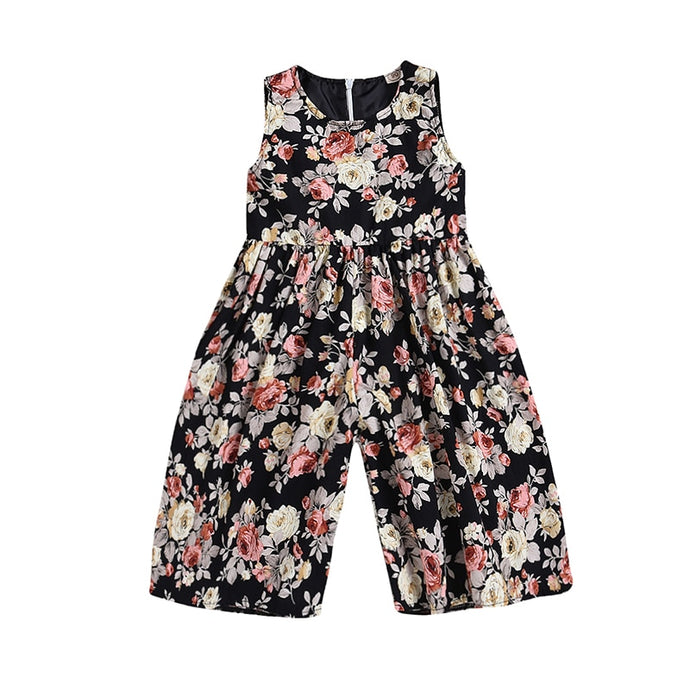 Floral Wide Leg Jumpsuit - Kids Shoe Shack