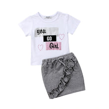 Load image into Gallery viewer, You Go Girl Skirt Set - Kids Shoe Shack
