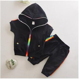 Rainbow Hooded Sweatshort Set - Kids Shoe Shack