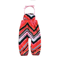 Load image into Gallery viewer, Chevron Halter Jumpsuit - Kids Shoe Shack