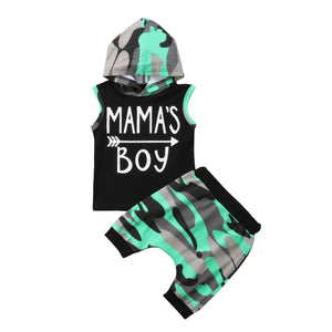 Mama's Boy Hooded Short Set - Kids Shoe Shack