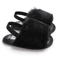 Load image into Gallery viewer, Caitlyn Faux Fur Sandal - Kids Shoe Shack