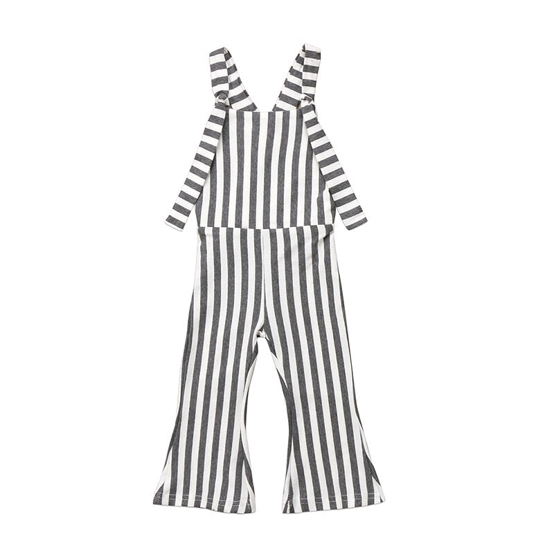 Striped Backless Overall Jumpsuit - Kids Shoe Shack