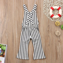 Load image into Gallery viewer, Striped Backless Overall Jumpsuit - Kids Shoe Shack