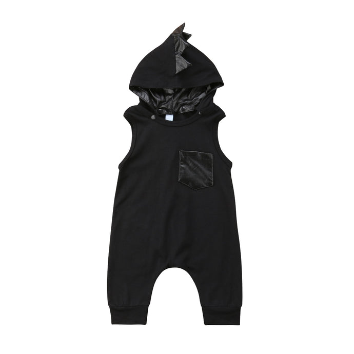 Dinosaur Hooded Jumpsuit - Kids Shoe Shack