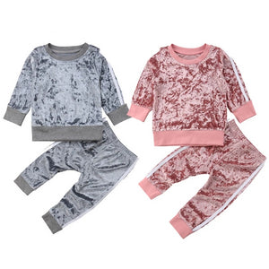 Velvet Tracksuit Set - Kids Shoe Shack