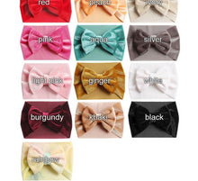Load image into Gallery viewer, Velvet Bow Knot Headwrap - Kids Shoe Shack
